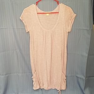 Lavender scoop neck sleeve tunic pockets Forever21